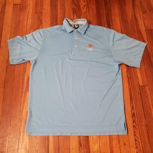 """Men's FootJoy Polo Shirt Blue """"Kiawah"""" Logo Size X"""